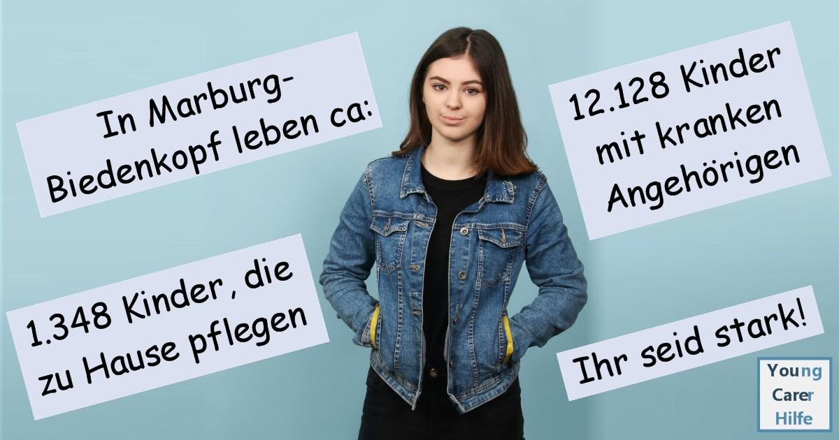 Marburg-Biedenkopf, Young Carer, junge Pflegende, pflegende Kinder, pflegende Jugendliche, Systemsprenger, Kinder kranker Eltern, Depression, Brustkrebs, MS, ALS, Eltern, Kinder, Hilfe